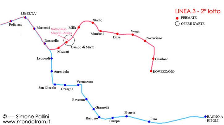 Mappa linea 3 2 lotto fortezza rovezzano fortezza for Bagno a ripoli mappa